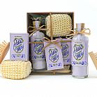 Lavender bath salts and soap set